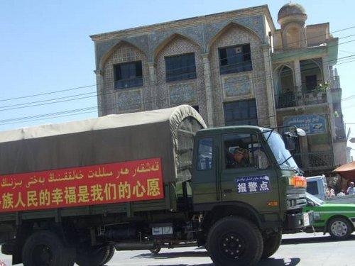 Army truck in Xinjiang